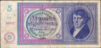 5K/1938-40/, stav 3, série A 002, ruční přetisk