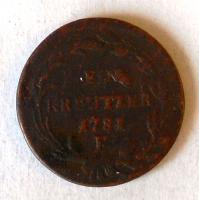 Čechy – Praha 1 Krejcar 1781 P Josef II.