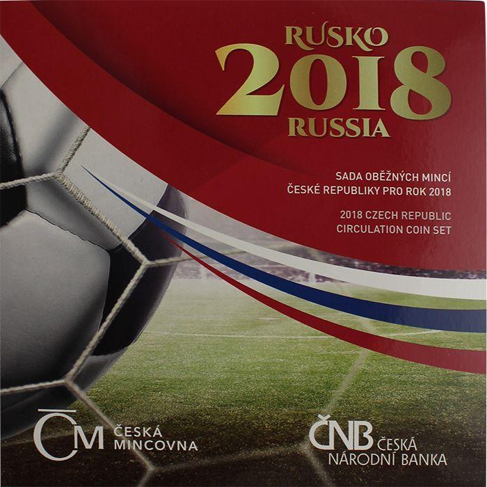 Ročníková sada oběžných mincí ČR (2018-MS ve fotbale v Rusku), stavy 0/0