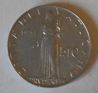 Vatikán 10 Lir 1951