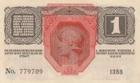 1 Koruna, Rakousko, 1916 - s- 1355