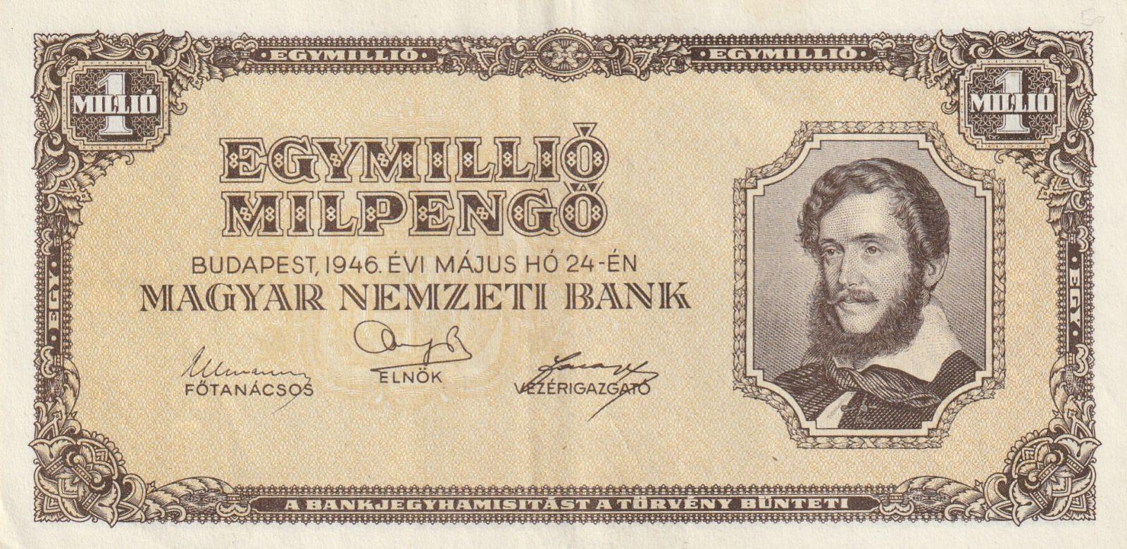 1 milion Pengo, Maďarsko, 1946