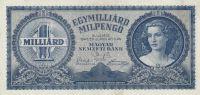 1 mld. Pengo, Maďarsko, 1946
