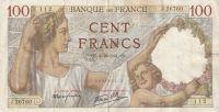 100 Franc, Francie, 1941