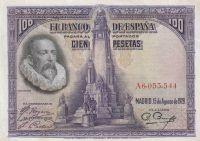 100 Peseta, Španělsko, 1928