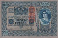 1000 Korun, Rakousko, razítko Deutch. Reich