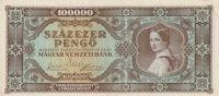 100000 Pengo, Maďarsko, 1945