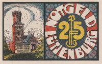 25 Pfennig nouzovka, Německo, Lütjenburg