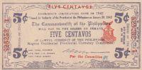 5 Centavos, Filipíny, 1942