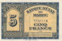 5 Franc, Maroko, 1943