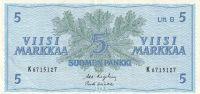 5 Markka, Finsko, 1963