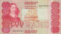50 Rand, J.Afrika, zvířata u jezera