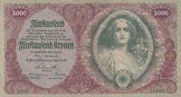 5000 Korun, Rakousko, 1922