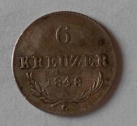 Čechy 6 Krejcar 1848 C Ferdinand V.