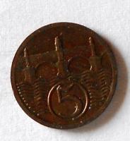 ČSR 5 Haléř 1923 stav