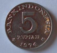 Indonésie 5 Rupií 1974