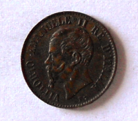 Itálie 1 Centesimi 1867 Vik. Emanuel
