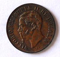 Itálie 2 Centesimi 1867 Vik. Emanuel