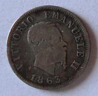 Itálie 50 Centesimi 1863 M Vik. Emanuel