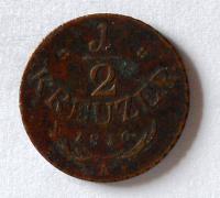 Rakousko 1/2 Krejcar 1816 A František II.