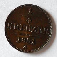 Rakousko 1/4 Krejcar 1851 A stav