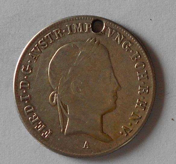 Rakousko 20 Krejcar 1840 A Ferdinand V. Dirka