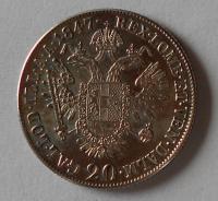 Rakousko 20 Krejcar 1847 A Ferdinand V.