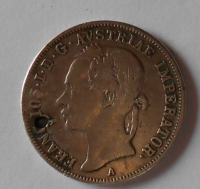 Rakousko 20 Krejcar 1852 A hlava vlevo, dirka