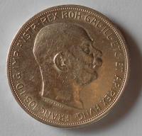 Rakousko 5 Korun 1909 velká hlava, stav