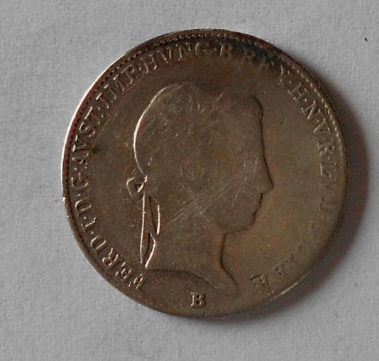 Uhry 10 Krejcar 1848 B Ferdinand V. Měl ouško