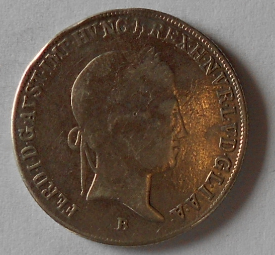 Uhry 20 Krejcar 1837 B Ferdinand V. Měl ouško