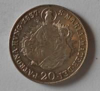 Uhry 20 Krejcar 1837 B Ferdinand V. Stav