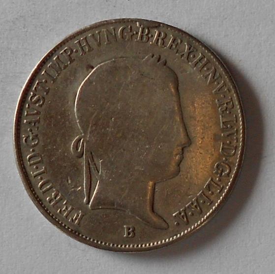 Uhry 20 Krejcar 1848 B Ferdinand V. - měl ouško