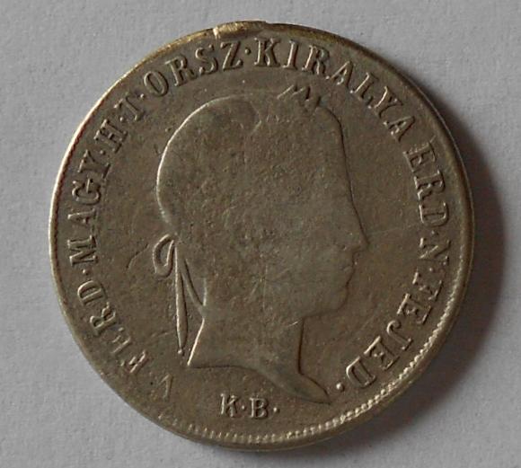 Uhry 20 Krejcar 1848 KB Ferdinand V. Měl ouško