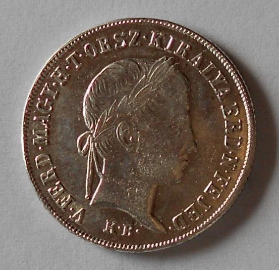 Uhry 20 Krejcar 1848 KB Ferdinand V. Stav