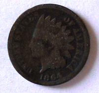 USA 1 Cent 1864 Indián
