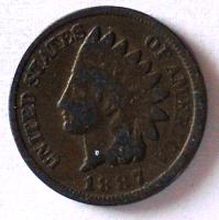 USA 1 Cent 1887 Indián