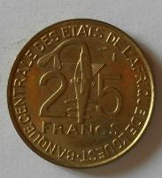 Východní Afrika 25 Frank 1975