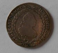 Čechy 20 Krejcar 1769 C Josef II. Vada materiálu
