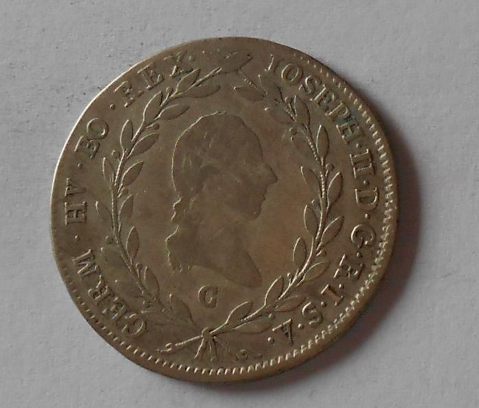 Čechy 20 Krejcar 1783 C Josef II.