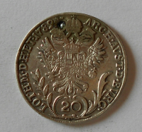 Čechy 20 Krejcar 1789 C Josef II. důlek
