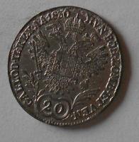 Čechy 20 Krejcar 1830 C František II. Dobové falzum