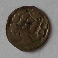 Čechy Kruhový peníz se lvem 1458-71 Jiří z Poděbrad