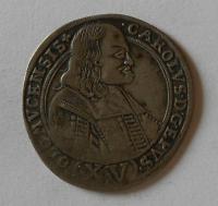 Olomouc arcibis. 15 Krejcar 1694 Karel II. Leichtenstein