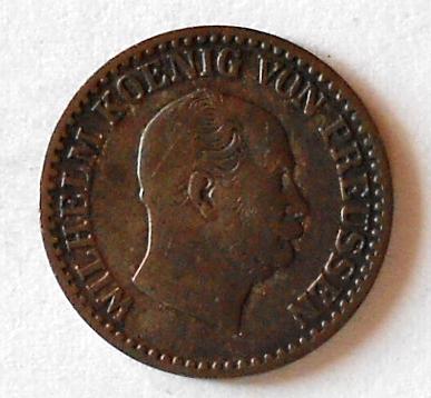 Prusko 1 stříb. Groš 1863 A Wilhelm I.