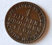 Prusko 1 stříb. Groš 1868 A Wilhelm I.