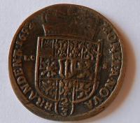 Prusko-Brandenburg 2/3 Tolar 1692 dobové falzum 15,23 gr.