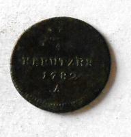 Rakousko 1/4 Krejcar 1782 A Josef II.