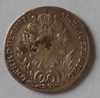 Rakousko 20 Krejcar 1783 F Josef II.