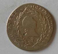 Rakousko 20 Krejcar 1787 F Josef II.